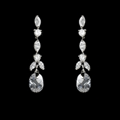 Elegant Dainty Crystal & Cubic Zirconia Earrings E 9018