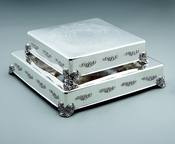 """Classic & Contemporary Wedding Cake Tableau Stand 14"""" & or 18"""" Square (One Layer)"""