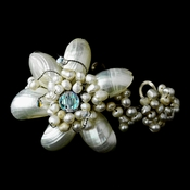 Beautiful Pearl & AB Floral Bracelet 7827