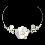 Elegant Freshwater Pearl, Beads & Shell Necklace N 8253