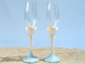 Starfish Wedding Champagne Toasting Flutes FL 443