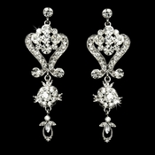 Beautiful Crystal Chandeleir Earrings E 1031 Silver Clear