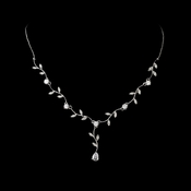 Lovely Silver Clear Cubic Zirconia Vine Necklace 2014