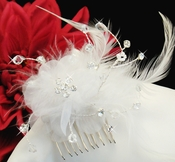 Feather Fascinator Hair Accent (Only 1 Piece In Stock)
