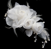 Bridal Feather Fascinator Hair Accent (Special Order Any Color)