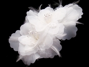 Bridal Feather Fascinator (Special Order Any Color)