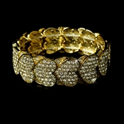 * Stretch Bracelet 1098 Gold Clear