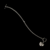Silver Pave Heart Toggle Bracelet 3843