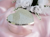 Crystal Glitter Clear Heart Jewelry Box 83603