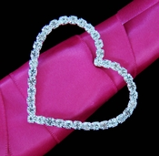 Crystal Heart Buckle Accent for Bouquet Handle 2154