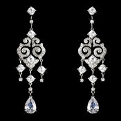 Elegant Vintage Cubic Zirconia Earrings E 1633