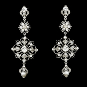 Intricate White Pearl & Crystal Earrings E 960