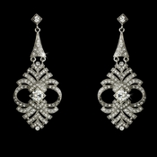 Elegant Vintage Crystal Earrings E 954