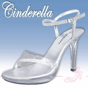 Cinderella Adult Size  Formal Evening Shoes