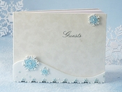 Snowflake Charm Wedding Guestbook