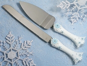 Snowflake Wedding Cake Server Set CS 445