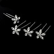 Swarovski Flower Hair Pin 35 (Set of 6)