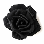 * Black Flower Hair Clip 428