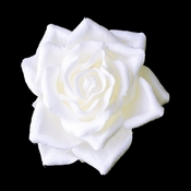 Rose Bud Bridal Flower Hair Clip 401 White, Ivory or Red
