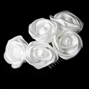 Charming White Flower Bridal Hair Comb 4647