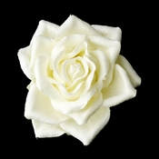 Rose Bud Medium Hair Clip 401 ( White, Ivory or Red )