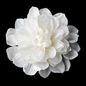 "X-Large Dahlia Alligator Hair Clip 418 (6"") (White or Ivory)"