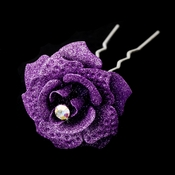 Lilac Glitter Crystal Bridal Hair Pin 900