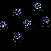 12 Delightful Silver Light & Dark Blue Rhinestone Flower Twist-Ins 01