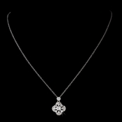 Silver Clear Cubic Zirconia Necklace N 8119