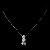 Sparkling Three Pendant Circular CZ Necklace N 8110