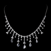 Necklace 3628 Silver Clear