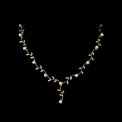 Gold & Ivory Pearl Vine Bridal Necklace N 2657