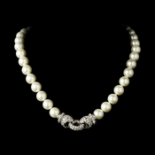 Elegance Antique Silver FW Pearl Necklace N 3602