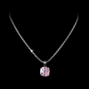 Superb Designer Inspired Pink CZ Crystal Necklace 4115