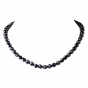* Black Swarovski Crystal Necklace N 202