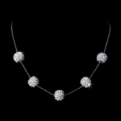 Stunning Pave Crystal Ball Necklace N 950