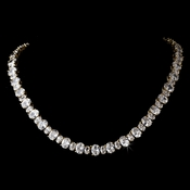 Gold Cubic Zirconia Necklace N 2403