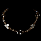 Swarovski Cyrstal Necklace N 8211 Silver Light Brown
