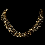 Necklace 8249 Gold Pearl