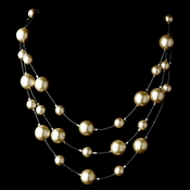 Ivory Pearl Illusion Necklace 8358