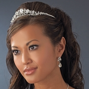 Silver Clear Plated Bridal Tiara HP 8314