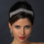 * Silver Clear Headpiece Tiara 619