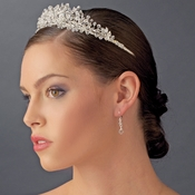 Crystal and Rhinestone Floral Bridal Tiara HP 4706 Silver