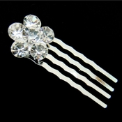 * Beautiful Crystal Flower Hair Pin 41
