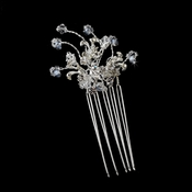 * Lovely Silver Clear Crystal & Rhinestone Hair Pin 2117