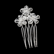 Crystal Flower Hair Pin 1587