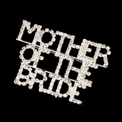 * Brooch 9002 Mother Of the Bride Silver with Rhinestones