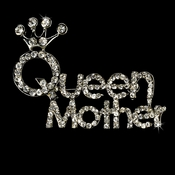* Silver Queen Mother Rhinestone Brooch 30112