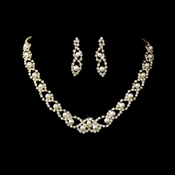 Necklace Earring Set NE 150 Gold Ivory