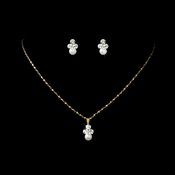* Necklace Earring Set  NE 110 Gold Ivory